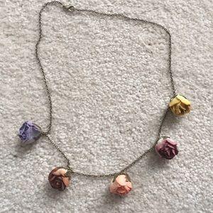 """Anthropologie Rosebud necklace 18"""""""